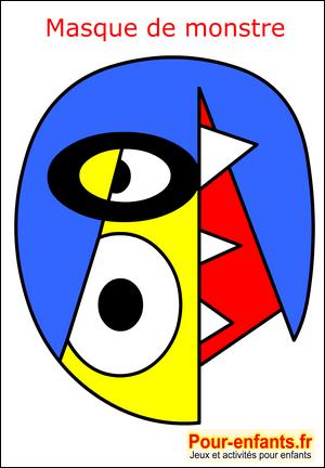 Masque Monstre Fabrication Enfant Pour Deguisement Des Enfants